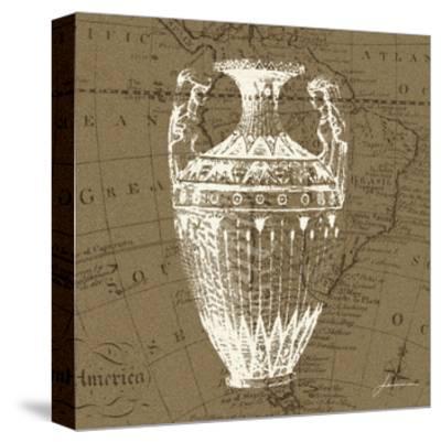 Map Bottles II-James Burghardt-Stretched Canvas Print