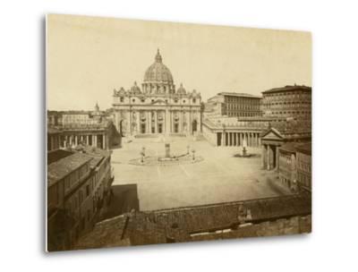 St. Peter's Square-Giacomo Brogi-Metal Print