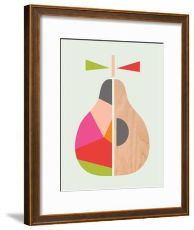 Geometric Pear-Little Design Haus-Framed Giclee Print