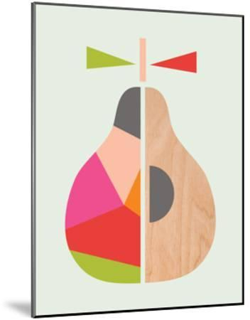 Geometric Pear-Little Design Haus-Mounted Giclee Print