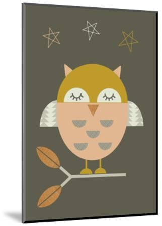 Little Owl-Little Design Haus-Mounted Giclee Print