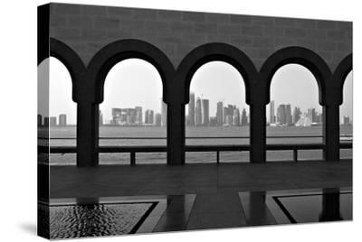 Doha Skyline from Museum-Gregory T. Smith-Stretched Canvas Print