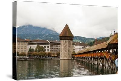 Kapellbrucke on Reuss River, Lucerne, Switzerland-Cultura Travel/Rosanna U-Stretched Canvas Print