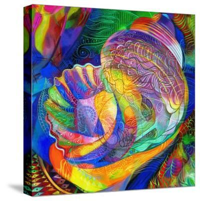In a Halcyon Sea-Jane Tattersfield-Stretched Canvas Print