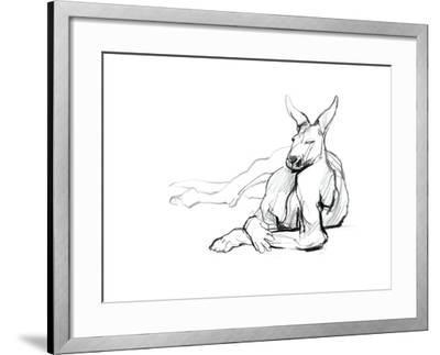 Resting Athlete (Red Kangaroo), 2012-Mark Adlington-Framed Giclee Print