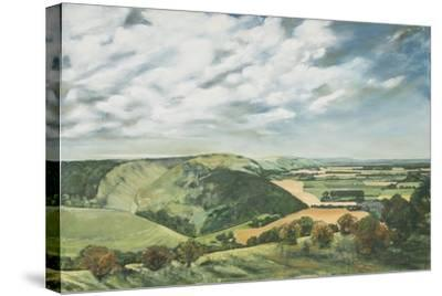 Devil's Dyke Poynings, 1989-Margaret Hartnett-Stretched Canvas Print