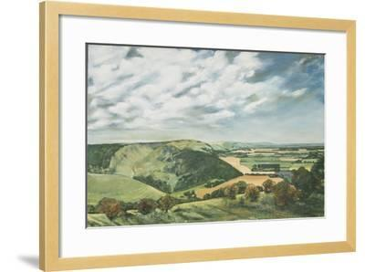 Devil's Dyke Poynings, 1989-Margaret Hartnett-Framed Giclee Print