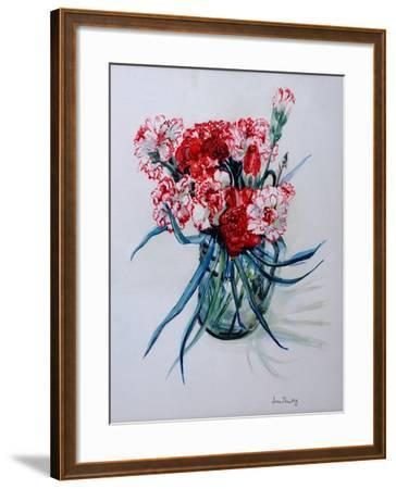 Pink and Red Cottage Pinks, 2004-Joan Thewsey-Framed Giclee Print
