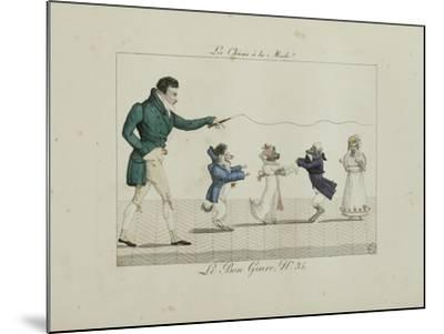 Le Bon Genre: Observations About the Parisian Fashion and Customs-Pierre Antoine Leboux De La Mesangere-Mounted Giclee Print