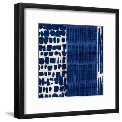 Indigo Batik I-Hugo Wild-Framed Art Print