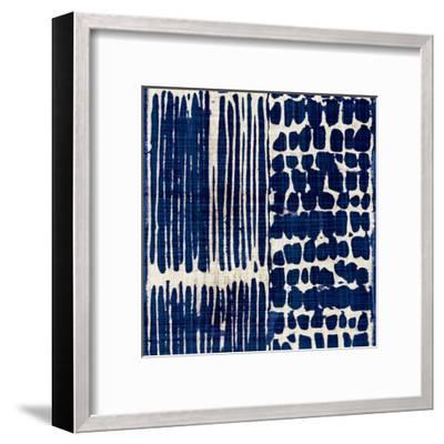 Indigo Batik III-Hugo Wild-Framed Art Print