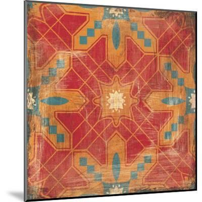 Moroccans Tile II v2-Cleonique Hilsaca-Mounted Art Print