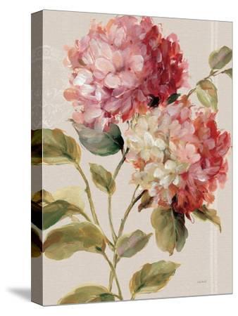 Harmonious Hydrangeas Linen-Lisa Audit-Stretched Canvas Print