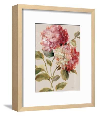 Harmonious Hydrangeas Linen-Lisa Audit-Framed Art Print