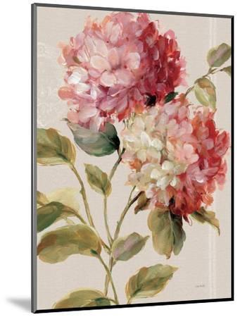 Harmonious Hydrangeas Linen-Lisa Audit-Mounted Art Print