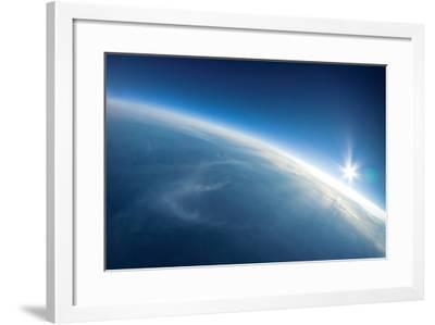 Near Space Photography - 20Km above Ground / Real Photo-dellm60-Framed Art Print