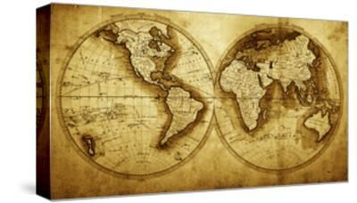 Antique Map Of The World (Circa 1711 Year)-Oleg Golovnev-Stretched Canvas Print