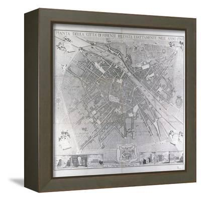 Map of Florence, 1783- Magnelli-Framed Stretched Canvas Print