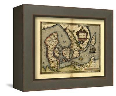 Ortelius's Map of Denmark, 1570-Library of Congress-Framed Stretched Canvas Print