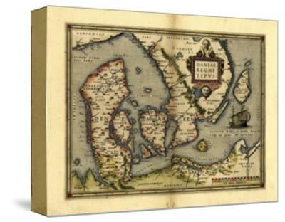 Ortelius's Map of Denmark, 1570-Library of Congress-Stretched Canvas Print