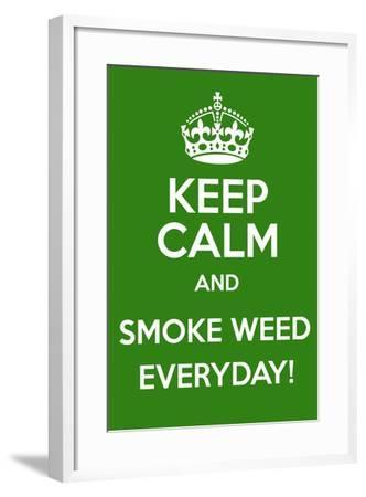 Keep Calm and Smoke Weed Everyday-Andrew S Hunt-Framed Art Print