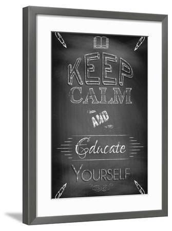 Keep Calm and Educate Yourself-Bratovanov-Framed Art Print