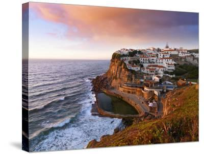 Portugal, Sintra, Azehas Do Mar, Overview of Town at Dusk-Shaun Egan-Stretched Canvas Print