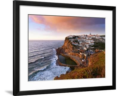 Portugal, Sintra, Azehas Do Mar, Overview of Town at Dusk-Shaun Egan-Framed Photographic Print