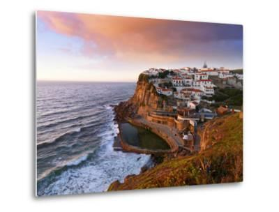 Portugal, Sintra, Azehas Do Mar, Overview of Town at Dusk-Shaun Egan-Metal Print