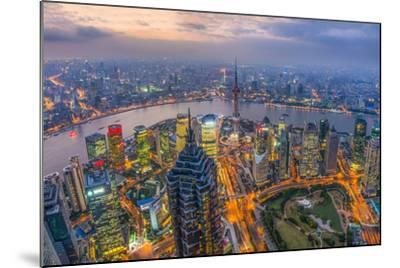 China, Shanghai, View over Pudong Financial District, Huangpu River Beyond-Alan Copson-Mounted Photographic Print