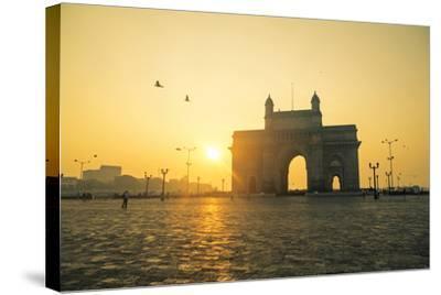 India, Maharashtra, Mumbai, Gateway of India, the Gateway of India at Dawn-Alex Robinson-Stretched Canvas Print