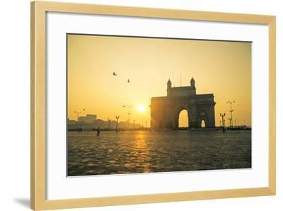 India, Maharashtra, Mumbai, Gateway of India, the Gateway of India at Dawn-Alex Robinson-Framed Photographic Print