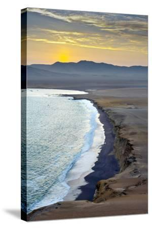 Peru, Paracas National Reserve, Lagunillas Bay, Sunset, Pacific Ocean, Ica Region-John Coletti-Stretched Canvas Print