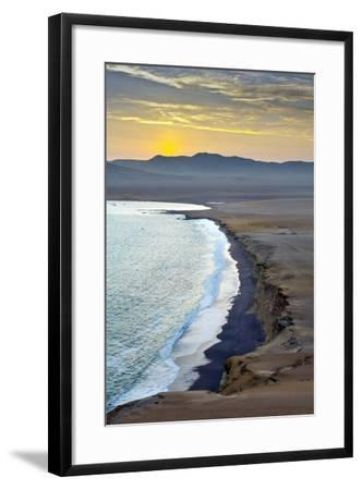 Peru, Paracas National Reserve, Lagunillas Bay, Sunset, Pacific Ocean, Ica Region-John Coletti-Framed Photographic Print