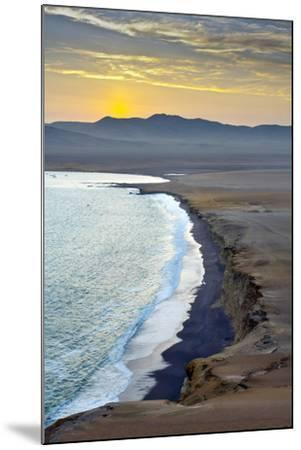 Peru, Paracas National Reserve, Lagunillas Bay, Sunset, Pacific Ocean, Ica Region-John Coletti-Mounted Photographic Print