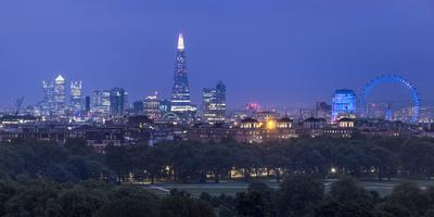 London Skyline with the Shard Above Hyde Park, London, England, Uk-Jon Arnold-Framed Photographic Print