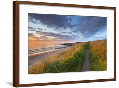 United Kingdom, Uk, Northumberland, Sunrise at Dunstanburgh Castle-Fortunato Gatto-Framed Photographic Print