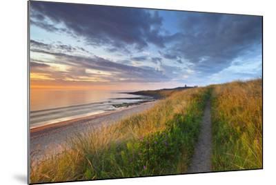 United Kingdom, Uk, Northumberland, Sunrise at Dunstanburgh Castle-Fortunato Gatto-Mounted Photographic Print