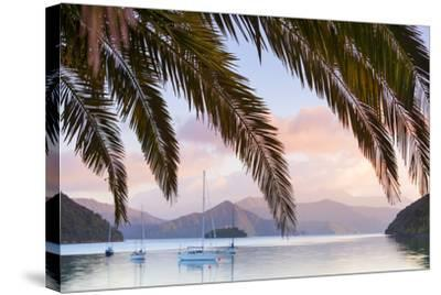 Yachts Anchored on the Idyllic Queen Charlotte Sound, Marlborough Sounds, South Island, New Zealand-Doug Pearson-Stretched Canvas Print