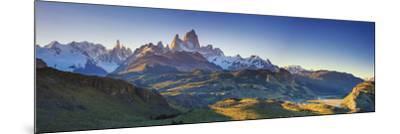 Argentina, Patagonia, El Chalten, Los Glaciares National Park, Cerro Torre and Cerro Fitzroy Peaks-Michele Falzone-Mounted Photographic Print