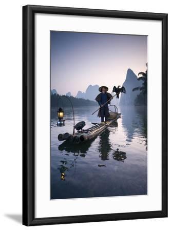 China, Guanxi, Yangshuo. Old Chinese Fisherman-Matteo Colombo-Framed Photographic Print
