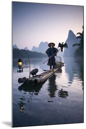 China, Guanxi, Yangshuo. Old Chinese Fisherman-Matteo Colombo-Mounted Photographic Print