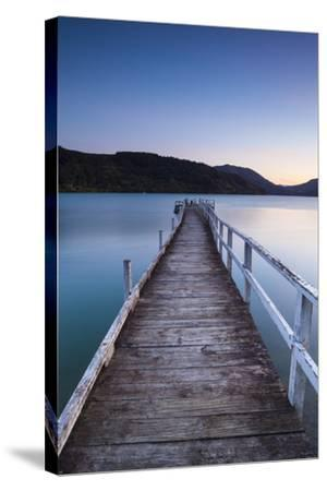 Picturesque Wharf Illuminated-Doug Pearson-Stretched Canvas Print