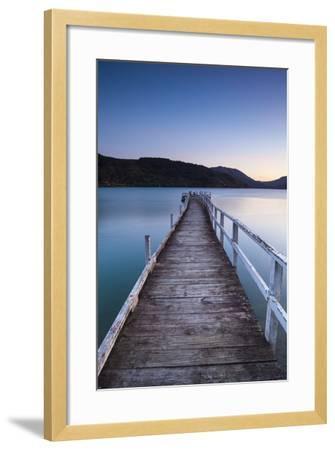 Picturesque Wharf Illuminated-Doug Pearson-Framed Photographic Print
