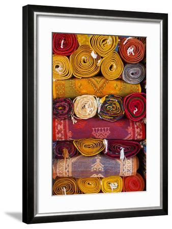 Morocco, Marrakech, Carpets in Market-Andrea Pavan-Framed Photographic Print