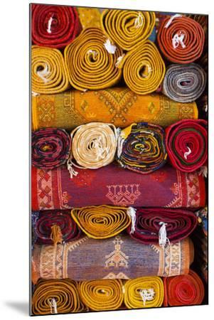 Morocco, Marrakech, Carpets in Market-Andrea Pavan-Mounted Photographic Print