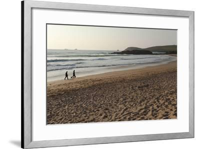 The Sands of Constantine Bay, Looking Towards Trevose Head, Shortly before Sunset, Near Padstow-Nigel Hicks-Framed Photographic Print