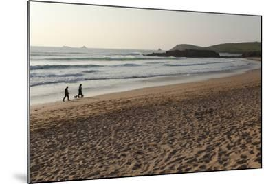 The Sands of Constantine Bay, Looking Towards Trevose Head, Shortly before Sunset, Near Padstow-Nigel Hicks-Mounted Photographic Print