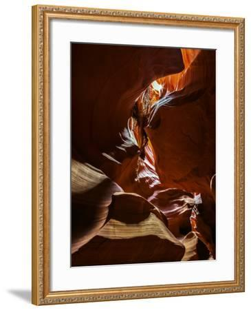 The Sandstone Walls of a Slot Canyon Eroded by Flash Floods Carrying Abrasive Sand Particles-Babak Tafreshi-Framed Photographic Print