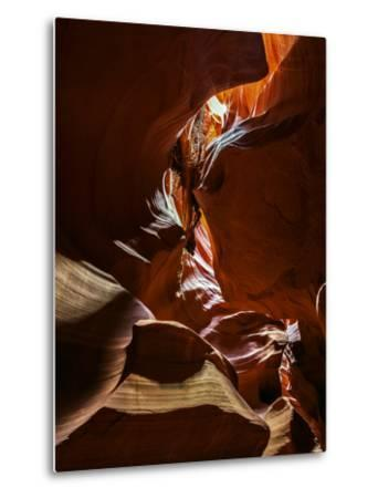 The Sandstone Walls of a Slot Canyon Eroded by Flash Floods Carrying Abrasive Sand Particles-Babak Tafreshi-Metal Print